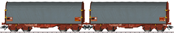 Marklin 47218 - SNCF Sliding Tarp 2-Car Set, Era VI