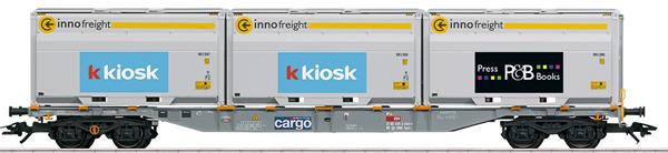Marklin 47459 - SBB Type Sgnss Container Transport Car, Era VI