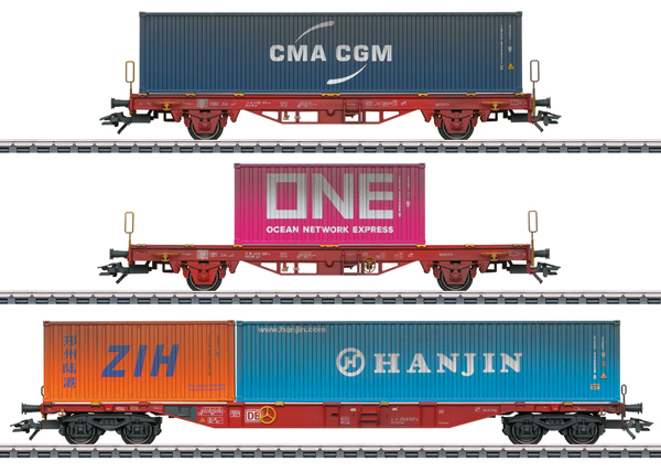 Marklin 47580 - German Container Car Set of the DB AG