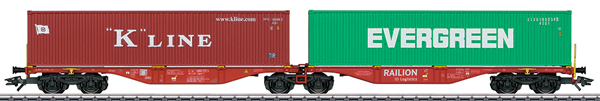 Marklin 47800 - Double Container Wagon type Sggrss 80