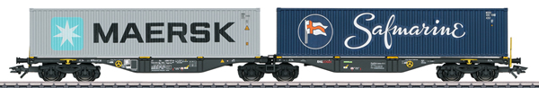 Marklin 47806 - NL Type Sggrss Double Container Transport Car, RailReLease
