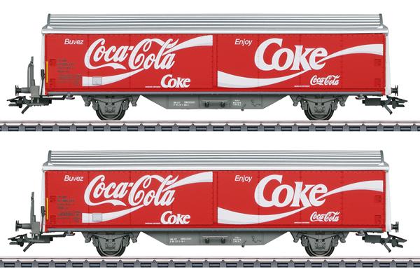 Marklin 48344 - Type Hbils-vy Sliding Wall Boxcar Set