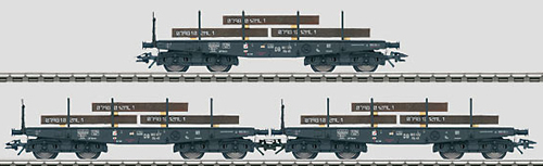 Marklin 48719 - DB Era III Heavy Duty Flat Car Set (L)