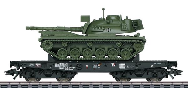 Marklin 48798 - DB Type Rlmmps Heavy-Duty Flat Car with M48 Tank, Era IV