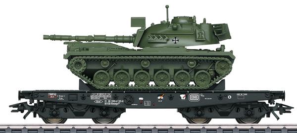 Marklin 48799 - DB Type Rlmmps Heavy-Duty Flat Car with M48 Tank, Era IV