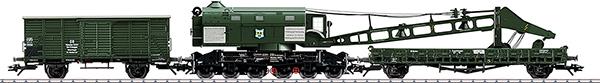 Marklin 49570 - Dgtl DB Ardelt 57 Metric Ton Steam Crane, Era IIIb