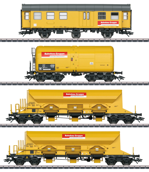 """Marklin 49969 - """"Track Laying Group"""" Freight Car Set - MHI Exclusiv"""