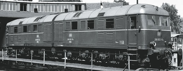 Marklin 55287 - German Double Unit Diesel locomotive BR 288 002 a / b of the DB (Sound Decoder)