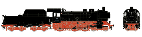 Marklin 55385 - German Steam Locomotive cl 038.10-40 w/Tub-Style Tender of the DB (Sound Decoder)