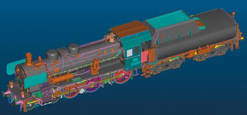 Marklin 55386 - German Steam Locomotive cl 38.10-40  w/Tub-Style Tender of the DB (Sound Decoder)