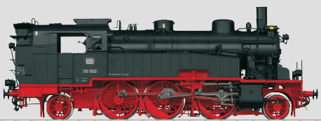 Marklin 55753 - German Steam Locomotive BR 75.4 of the DB (Sound Decoder)