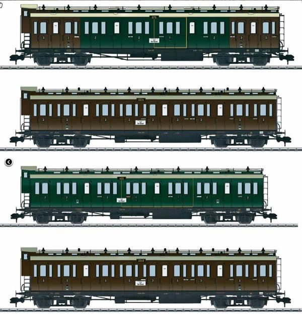 Marklin 58026 - K.P.E.V. Passenger 4-Car Set (L)