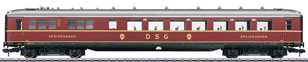 Marklin 58146 - DSG Schürzenwagen Skirted Dining Car, Era III