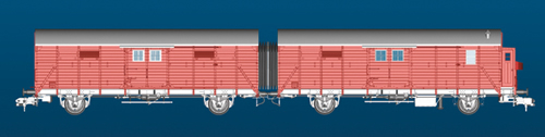Marklin 58249 - 2pc German Freight Car Set Leig-Unit type Gllh 12 of the DB