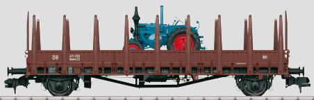 Marklin 58481 - German Stake Wagon Rmms 33 Ulm of the DB
