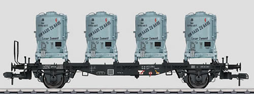 Marklin 58555 - DB type Blms 584 Transport Car w/Cement Container Load
