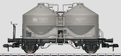 Marklin 58625 - DB Era IV Powdered Bulk Freight Silo Container Car