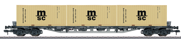 Marklin 58708 - DB Type Sgjs 716 General-Purpose Container Transport Car, Era IV
