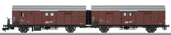 Marklin 58824 - German 2pc Freight Car Set type Hkr-Z 321 Leig of the DB