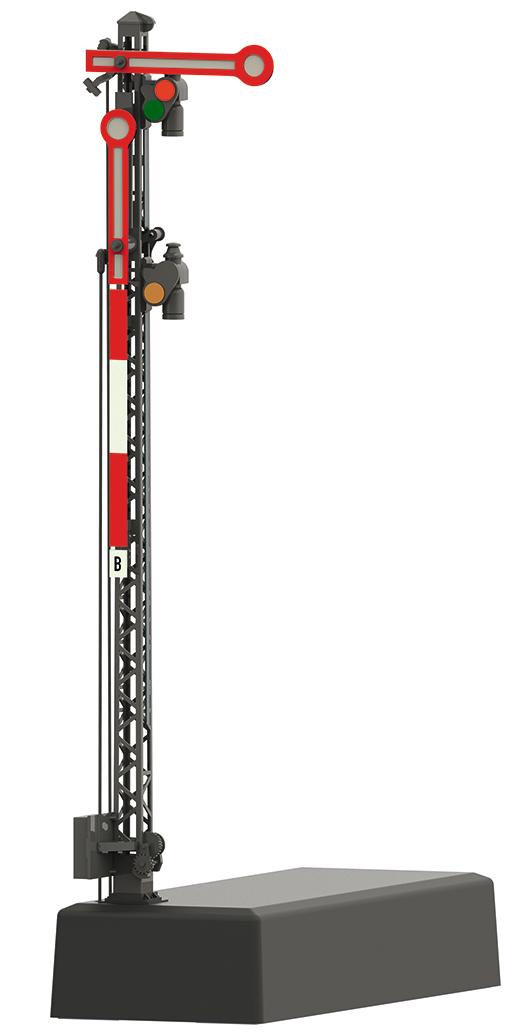 Marklin 70414 - Hp 0 / Hp 1 / Hp 2 Home Signal with a Lattice Mast