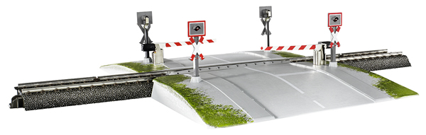 Marklin 74924 - Fully Automatic One-Piece Railroad Grade Crossing (Start up)