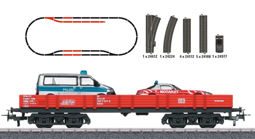 Marklin 78752 - German Fire Station Theme Extension Set of the DB - Start Up