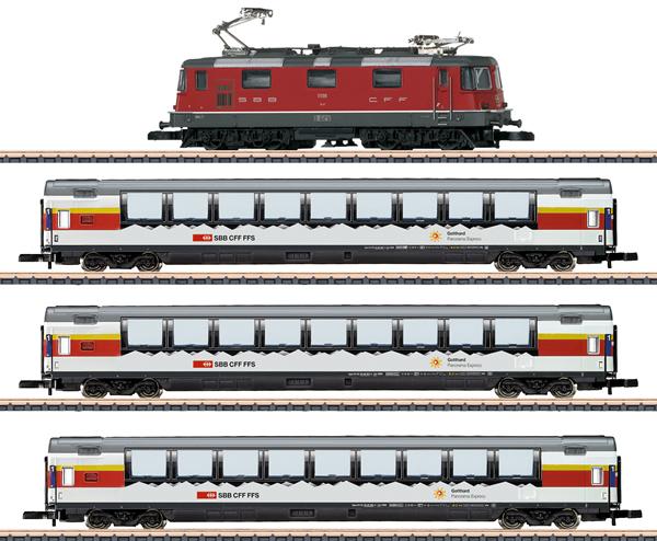 Marklin 81594 - SBB Gotthard Panorama Express Train Set, Era IV