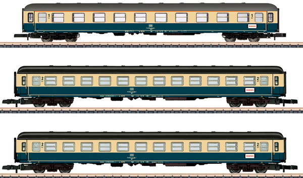 Marklin 87211 - German Era IV DB Passenger Car Set (Exclusive 30 Year MHI Model)