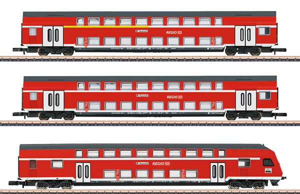 Marklin 87297 - DB Regio AG Bi-Level 3-Car Set, Era V