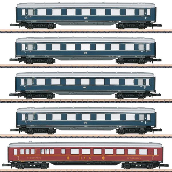 Marklin 87357 - German Express Car-Set of the DB