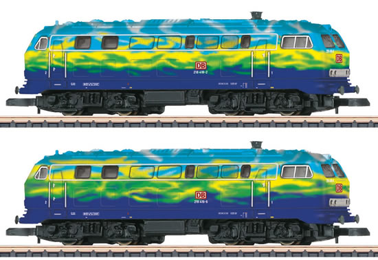 Marklin 88789 - German 2pc Diesel Locomotive BR 218 Set of the DB AG