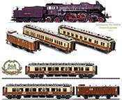 1900's Calais-Méditerranée Orient Express Set