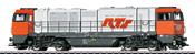 German Diesel Locomotive Vossloh Class G 2000 BB of the RTS Rail Transport (Sound)