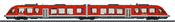 German Diesel Powered Commuter Rail Car LINT 41 of the DB AG