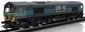 Dutch Diesel Locomotive EMD Serie 66 of the LINEAS