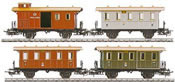 PRUSSIAN TRAIN CAR SET     94
