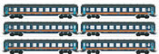 SNCB/NMBS Tin Plate Passenger 6-Car Set