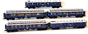 5pc French Orient Express 1928 Express Train Passenger Set of the CIWL