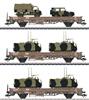 DSB Military Transport Low Side 3-Car Set, Era IV