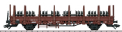 DB Type Kbs 442 Stake Car with Load of 12 Weathered Wheelsets, Era IV