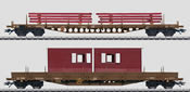 DSB Low Side 2-Car Set w/Building Materials Load (L)