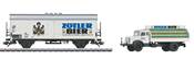 Marklin 48775 German Zötler Beer Refrigerator Car with Delivery Truck of the DB