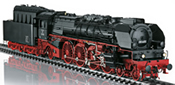 German heavy express steam locomotive class 08 of the DDR (Sound)