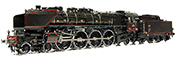 French Steam Locomotive Class 241-A of the SNCF (Sound)