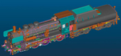 German Steam Locomotive cl 38.10-40  w/Tub-Style Tender of the DB (Sound Decoder)
