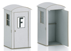 Kit of two telephone booths
