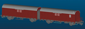 2pc German Freight Car Set