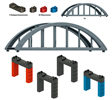Building Block Set for Elevated Railroad Bridge, my world