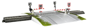 Fully Automatic One-Piece Railroad Grade Crossing (Start up)