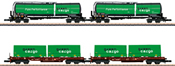 Swedish Freight Car-Set Green Cargo of the SJ